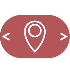 Flat paper cut style icon of map pointer vector