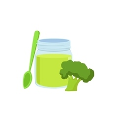Fresh Broccoli Juice Supplemental Baby Food vector image