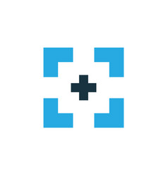 Full screen colorful icon symbol premium quality vector