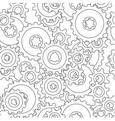 gear wheel pattern vector image