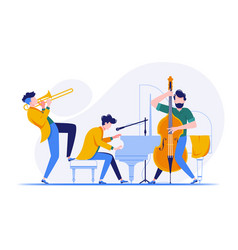 group of musicians playing classical instruments vector image