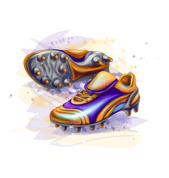 hand drawn football boots soccer shoes on a white vector image
