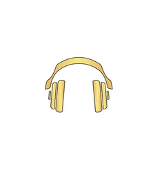 Headphones computer symbol vector