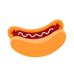 hot dog simple flat vector image