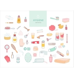 Hygiene elements vector