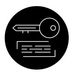 marketing keywording black concept icon vector image