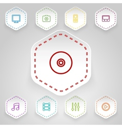 Media badges vector image