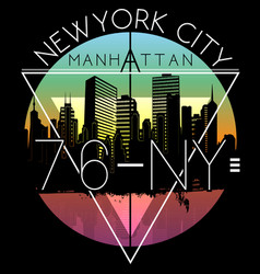 newyork city graphic design vector image