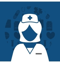 Nurse medical service vector