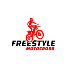 Offroad motocross adventure vector