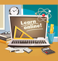 Online learning design concept vector
