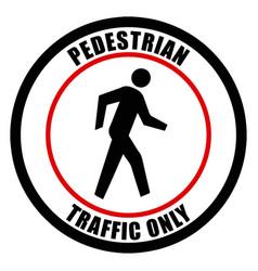 Pedestrian traffic sign eps10 vector