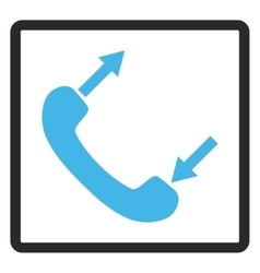 Phone Talking Framed Icon vector