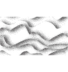 Pointillism abstract waves curves lines vector