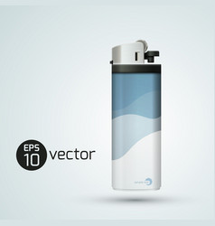 realistic gas lighter composition vector image