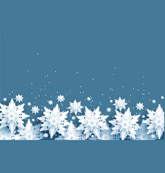 realistic snowflakes border vector image