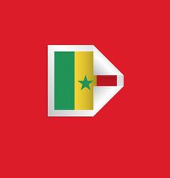 Senegal label flags template design vector
