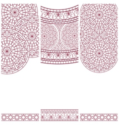 Set of banners with mosaic ornament vector image