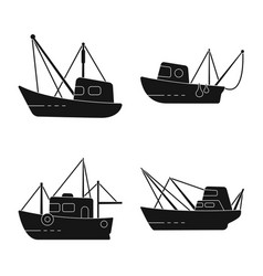 Shipping and yacht sign vector