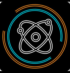 simple atom thin line icon vector image