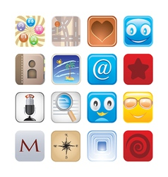 social apps vector image vector image