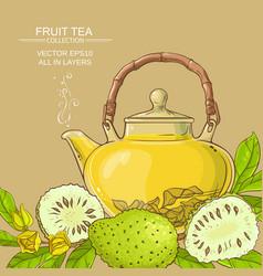 soursop tea background vector image