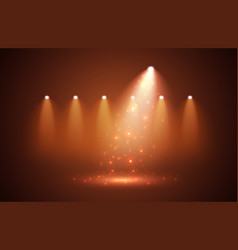 sparkle with spotlights on stage for your design vector image
