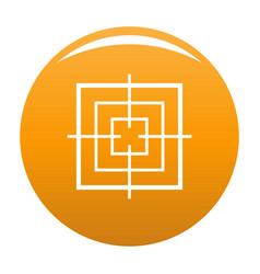 Square objective icon orange vector