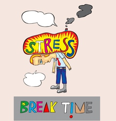 Stress cartoon vector