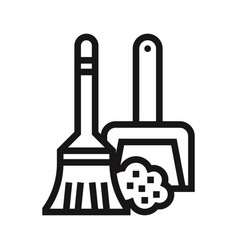 Sweep icon vector