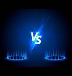 Versus game cover banner sport vs team concept vector
