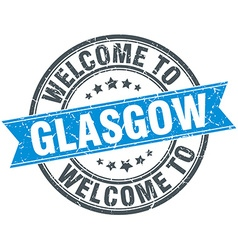 Welcome to Glasgow blue round vintage stamp vector