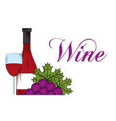 Wine drink alcohol card vector