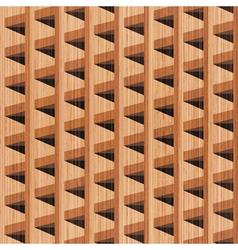 wooden building vector image