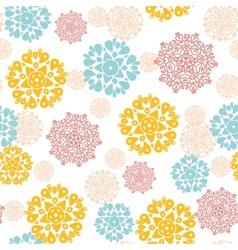 Abstract decorative circles stars seamless pattern vector image