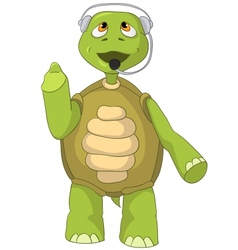 Funny Turtle Comunication vector image