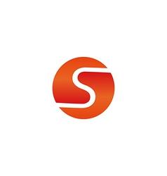 S letter sun symbol logo mockup technology icon vector image