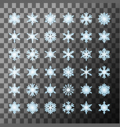 snowflakes template collection vector image
