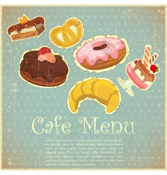 Vintage Cover Cafe vector image vector image