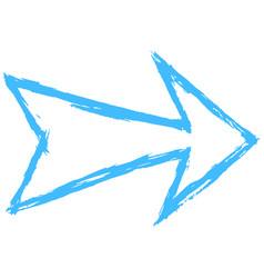 arrow symbol drawing sketch vector image vector image
