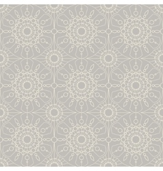 Beige vintage lace seamless ornament vector image