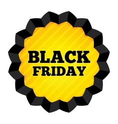 Black Friday Sale label on white background vector image