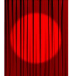 curtain spotlight vector image