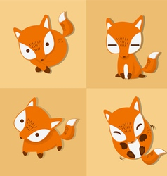 fox four stance vector image vector image