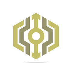 Logo Abstract Symbol Hexa Connecting Icon Element vector image vector image