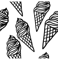 Perfect seamless pattern with ice cream cones vector image vector image