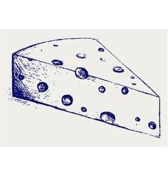Piece cheese vector image vector image