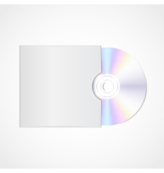 realistic blank compact disc vector image