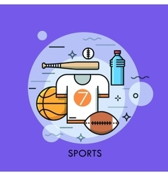 Sports equipment for player sporting goods and vector image
