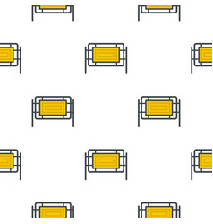 Square fence pattern seamless vector